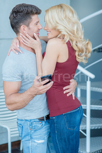 Romantic Middle Age Lovers Sweet Moments Stock photo © dash