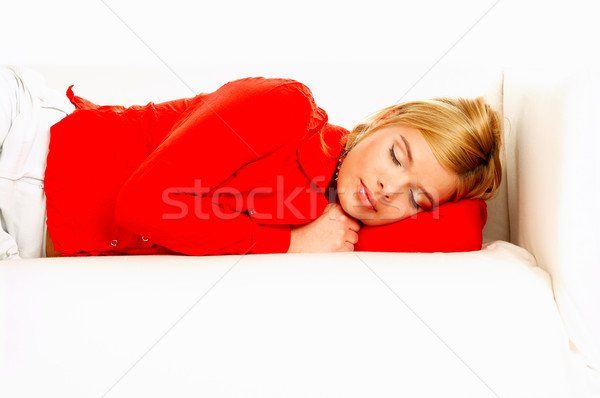 Women on couch Stock photo © dash