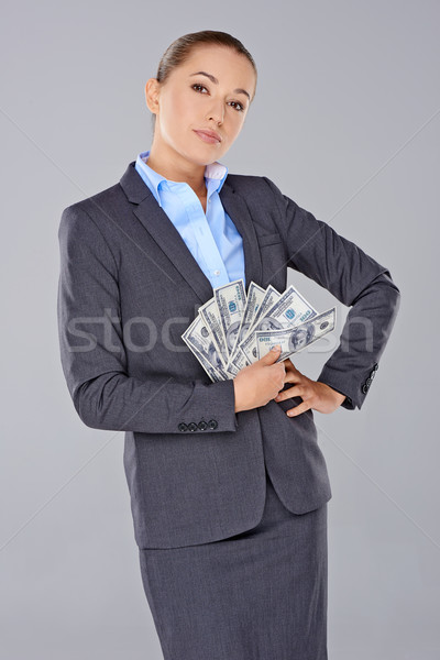 Successful wealthy businesswoman Stock photo © dash