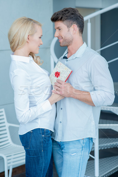 Middle Age Caucasian Lovers Sweet Moments Stock photo © dash