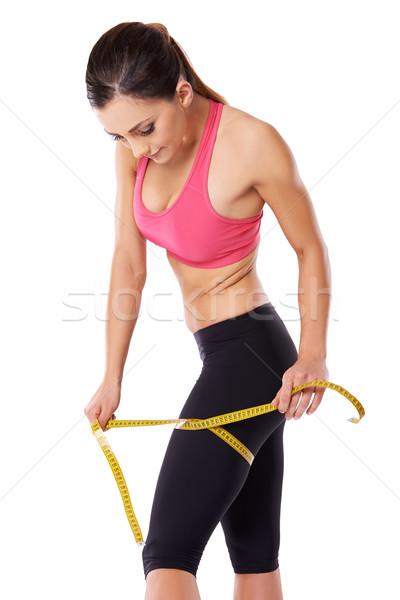 Güçlü kadın atlet uyluk güzel Stok fotoğraf © dash
