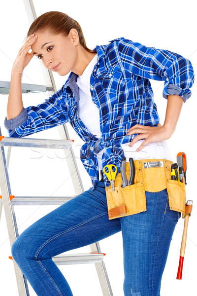 Young DIY handy woman with a problem Stock photo © dash