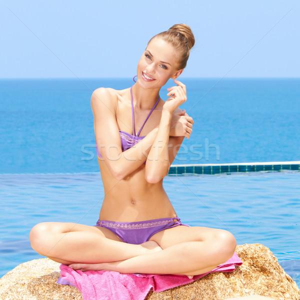 Glamorous Woman In Bikini Stock photo © dash