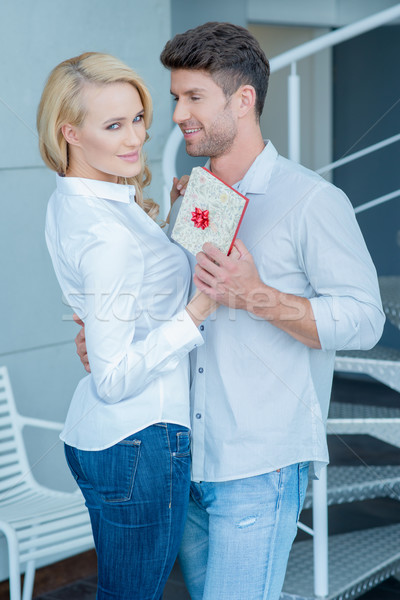 Pretty and Handsome Partners in Romantic Moments Stock photo © dash