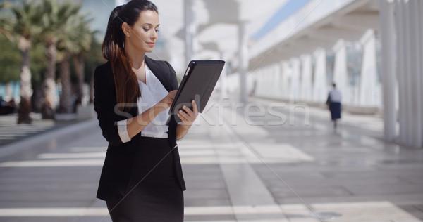 エレガントな 女性実業家 遊歩道 立って ストックフォト © dash