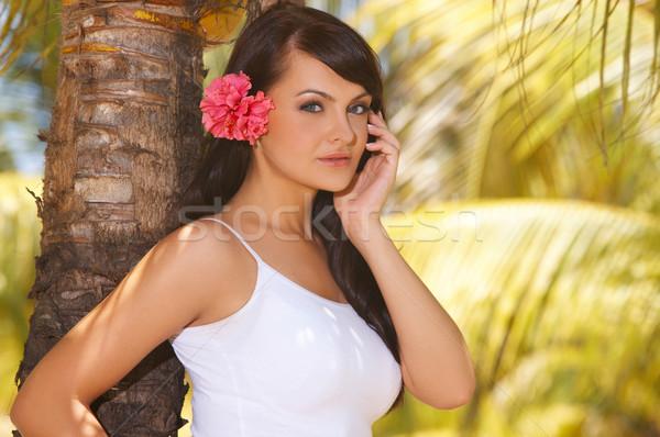 Ontspannen jaren ontspannen exotisch meisje Stockfoto © dash