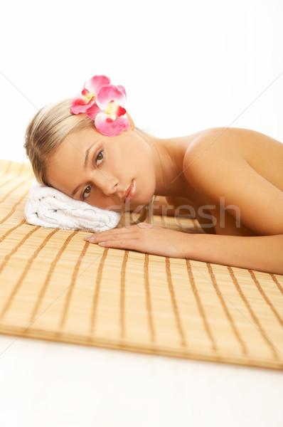 Diario spa retrato mujer hermosa tratamiento de spa mujer Foto stock © dash