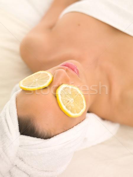 Diariamente estância termal retrato bela mulher tratamento de spa mulher Foto stock © dash