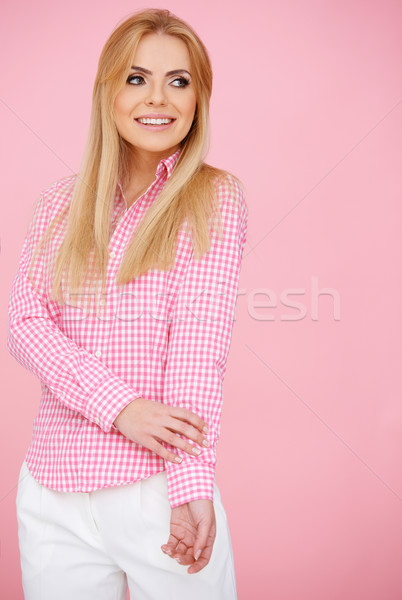 Ragazza rosa piedi corpo shot Foto d'archivio © dash