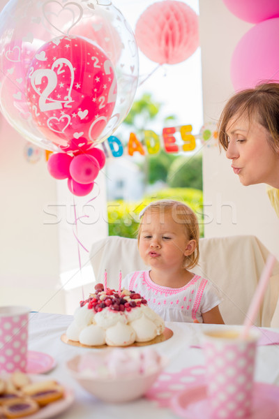Garden party for the daughter 's birthday Stock photo © dash