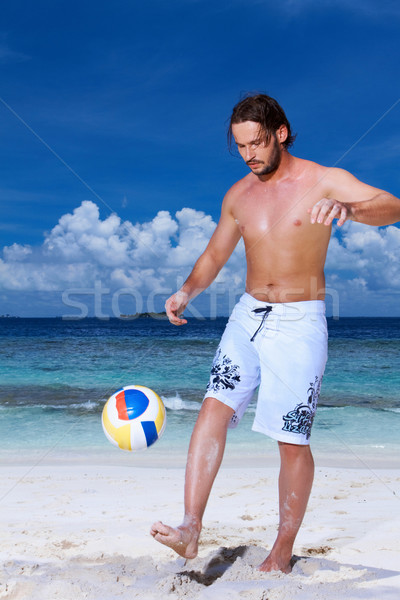 Handsome Man at Maldives Stock photo © dash