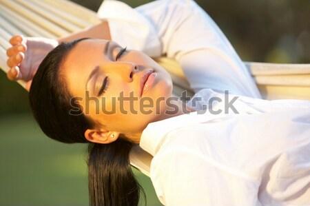 женщину гамак лет экзотический Бали Сток-фото © dash
