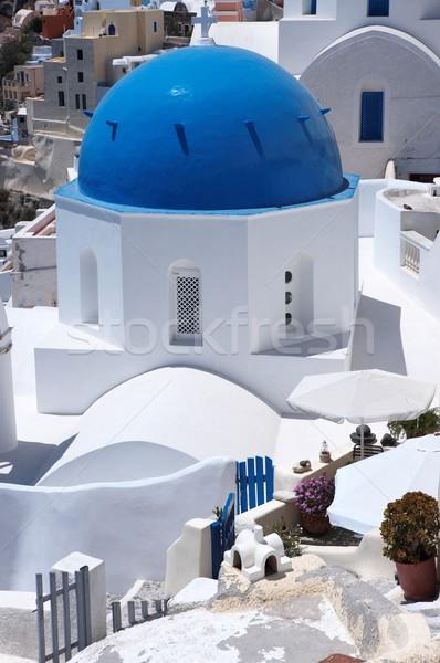 Foto stock: Santorini · maravilhoso · ver · cidade · edifícios · Grécia