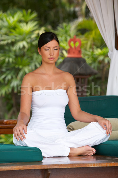 Foto d'archivio: Tempo · relax · anni · yoga · esotiche