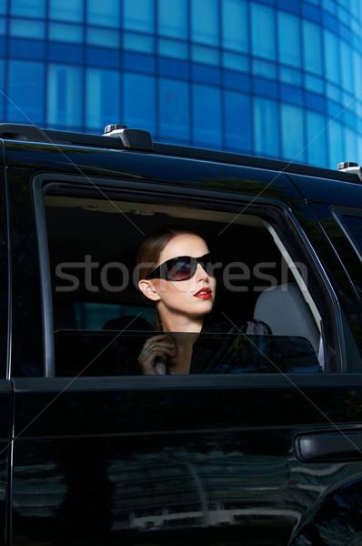 Grave donna costoso auto pretty woman Foto d'archivio © dash