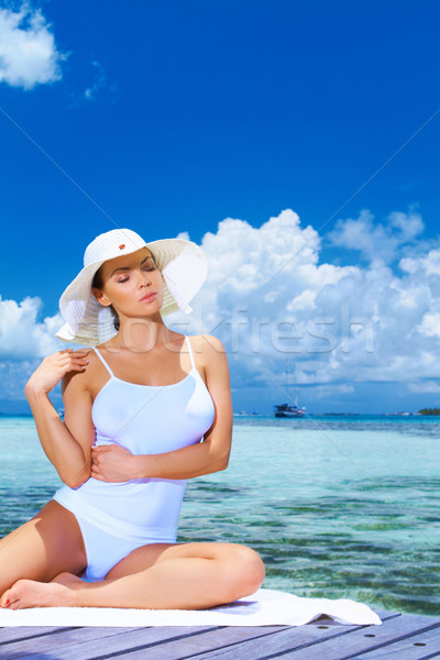 Woman at Maldives Stock photo © dash