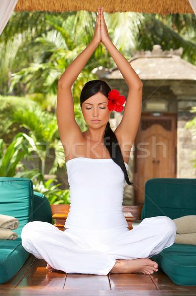 Zaman dinlenmek yıl yoga egzotik Stok fotoğraf © dash