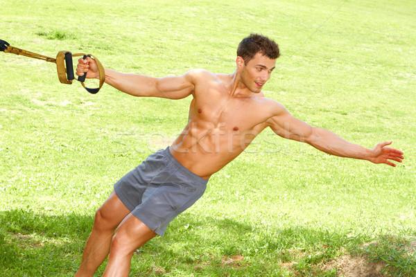 Fitness man in park Stock photo © dash