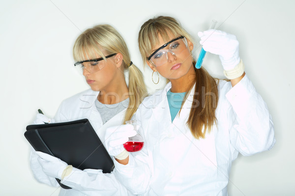 Feminino lab belo trabalhadores teste mulheres Foto stock © dash