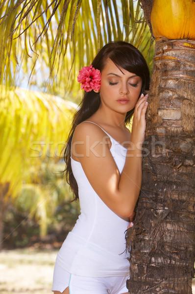 Stok fotoğraf: Dinlenmek · yıl · rahatlatıcı · egzotik · kız
