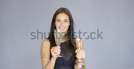 Sexy young woman celebrating the New Year Stock photo © dash