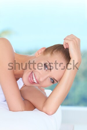 Portrait of beautiful woman on vacations Stock photo © dash