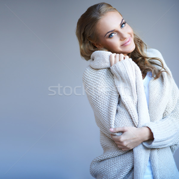 Beautiful woman in winter fashion Stock photo © dash