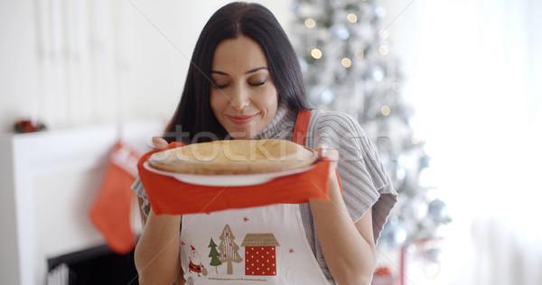Atractivo navidad pie árbol de navidad Foto stock © dash