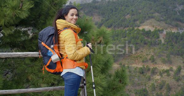 Senderismo montana meseta mochila Foto stock © dash