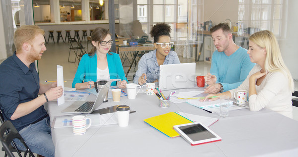 Group of people collaborating in office Stock photo © dash
