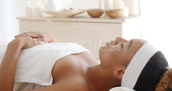 Young Female Relaxing In Spa Salon Stock photo © dash