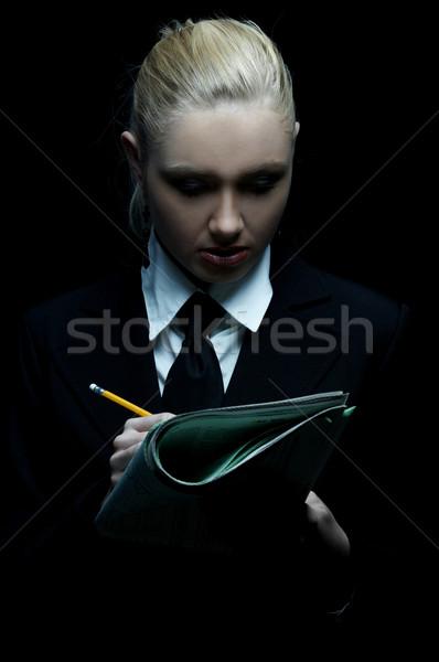 Stok fotoğraf: Siyah · iş · güzel · iş · kadını · kravat