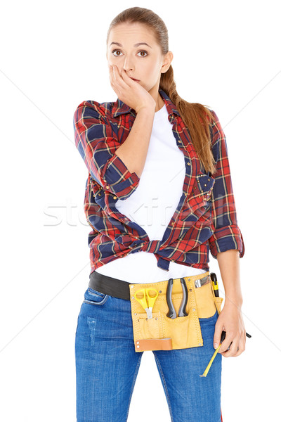 Capable woman with a worried look Stock photo © dash