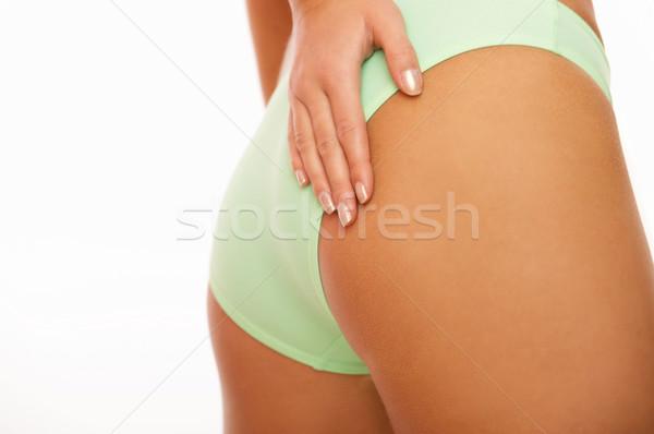 Bellezza dita toccare parti del corpo ragazza Foto d'archivio © dash