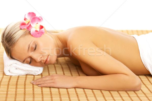 Codziennie spa portret piękna kobieta leczenie uzdrowiskowe kobieta Zdjęcia stock © dash