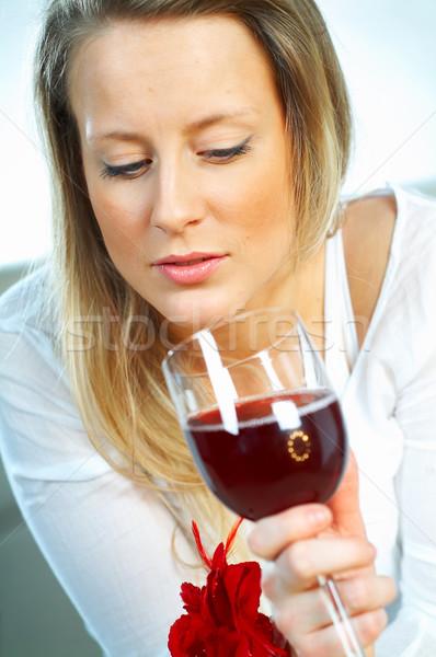 Women with wine Stock photo © dash