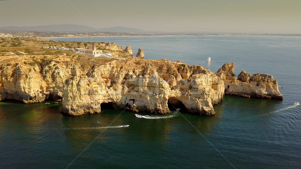 Cliffs in tropical shoreline Stock photo © dash