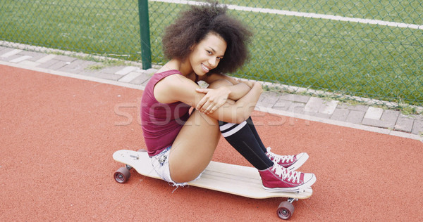 Adorable young girl on skate Stock photo © dash