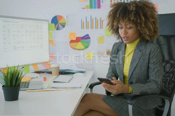 Imprenditrice telefono lavoro bella Foto d'archivio © dash