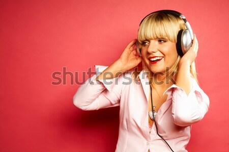 Listening music 2 Stock photo © dash