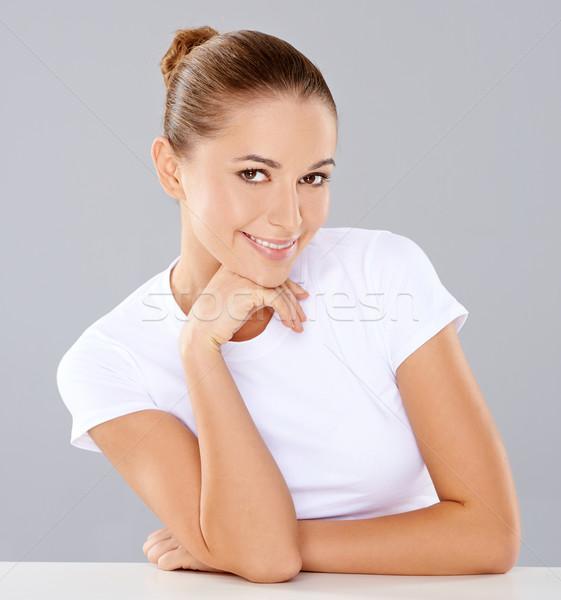 Pretty friendly young woman Stock photo © dash