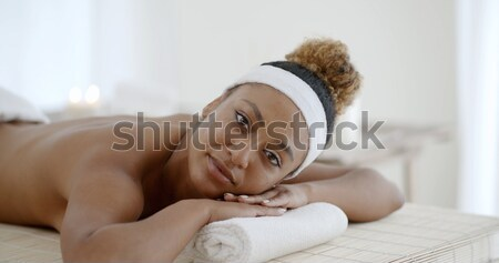 Woman On Massage Table Stock photo © dash