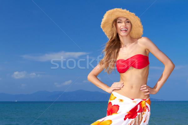 High-spirited beautiful woman Stock photo © dash