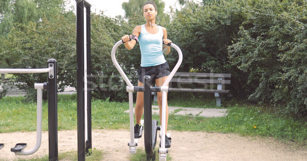 Woman exercising in park Stock photo © dash