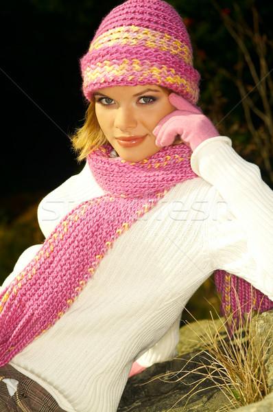 Mulher de negócios ao ar livre jovem relaxante montanhas ao ar livre Foto stock © dash