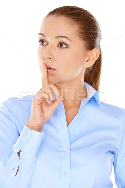 Thoughtful worried young woman Stock photo © dash