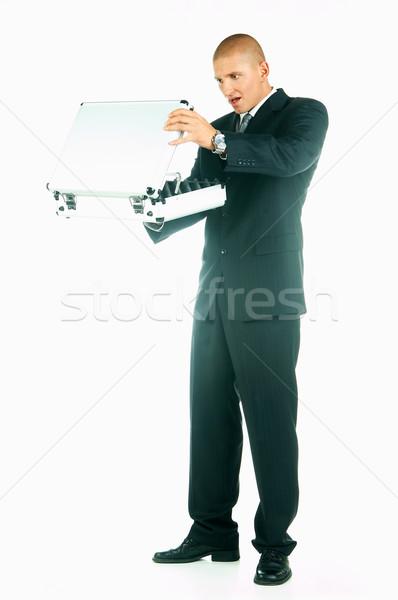 Empresário jovem caso negócio trabalhar terno Foto stock © dash