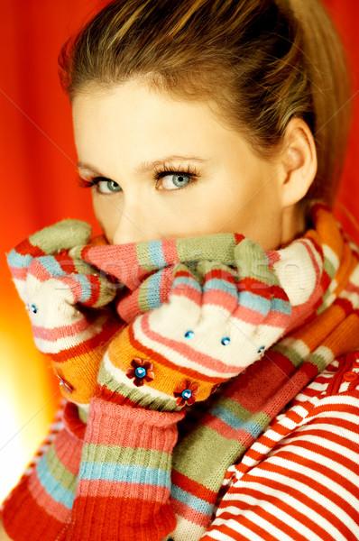 Retrato atraente belo mulher jovem Foto stock © dash