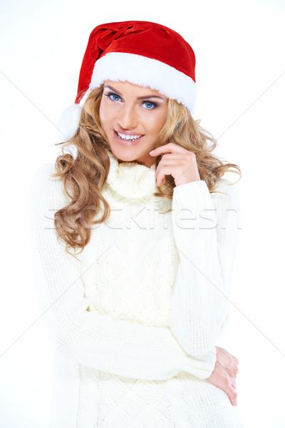 Stok fotoğraf: Güzel · mutlu · kadın · Noel · genç · kadın
