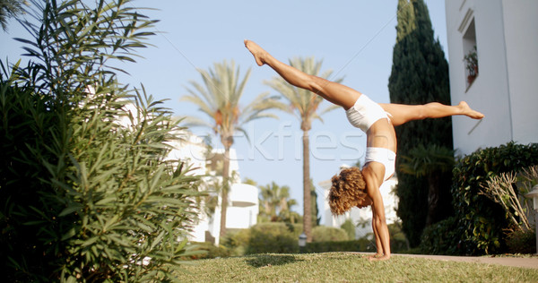 Handstand On The Lawn. Stock photo © dash